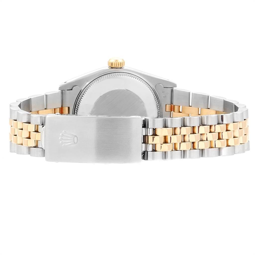 23641 Rolex Datejust Midsize Steel Yellow Gold Black Dial Ladies Watch 68273 SwissWatchExpo
