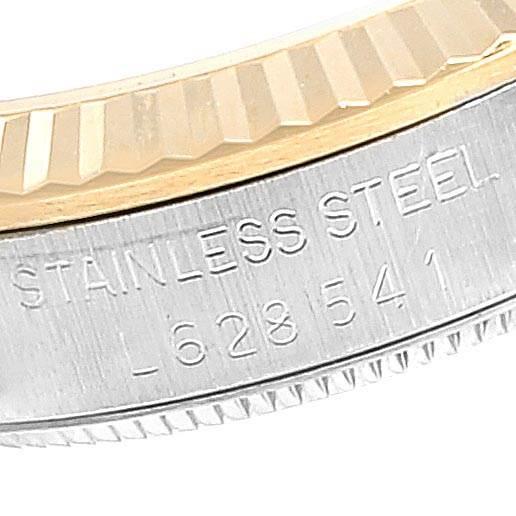 Rolex Datejust Midsize Steel Yellow Gold Black Dial Ladies Watch 68273 SwissWatchExpo