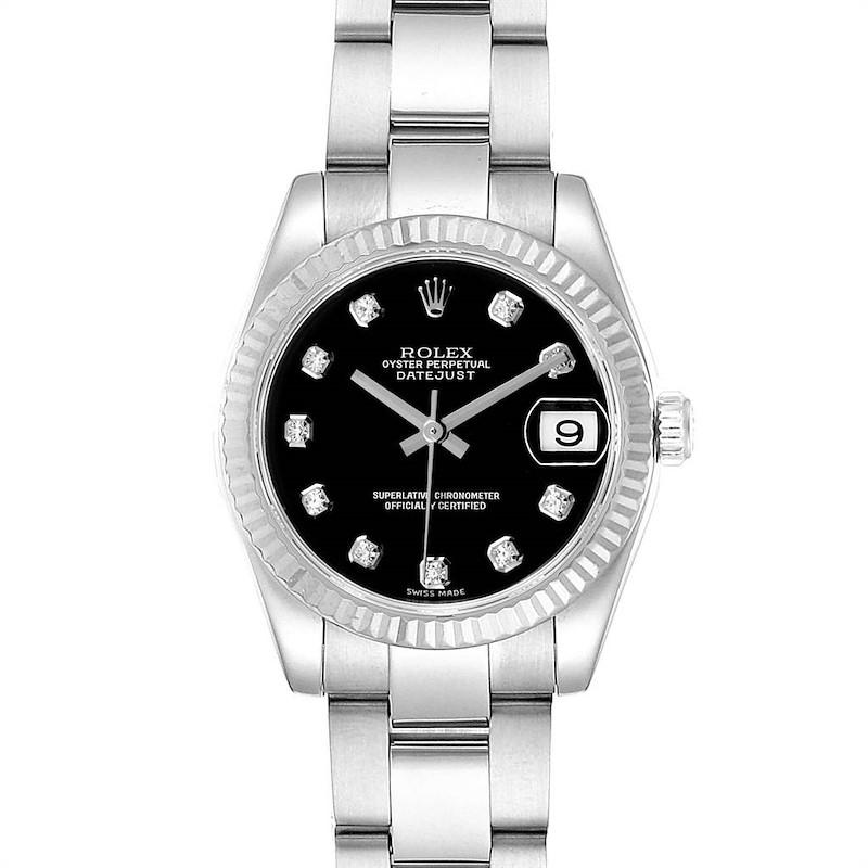 Rolex Datejust Midsize 31 Steel White Gold Diamond Watch 178274 Box SwissWatchExpo