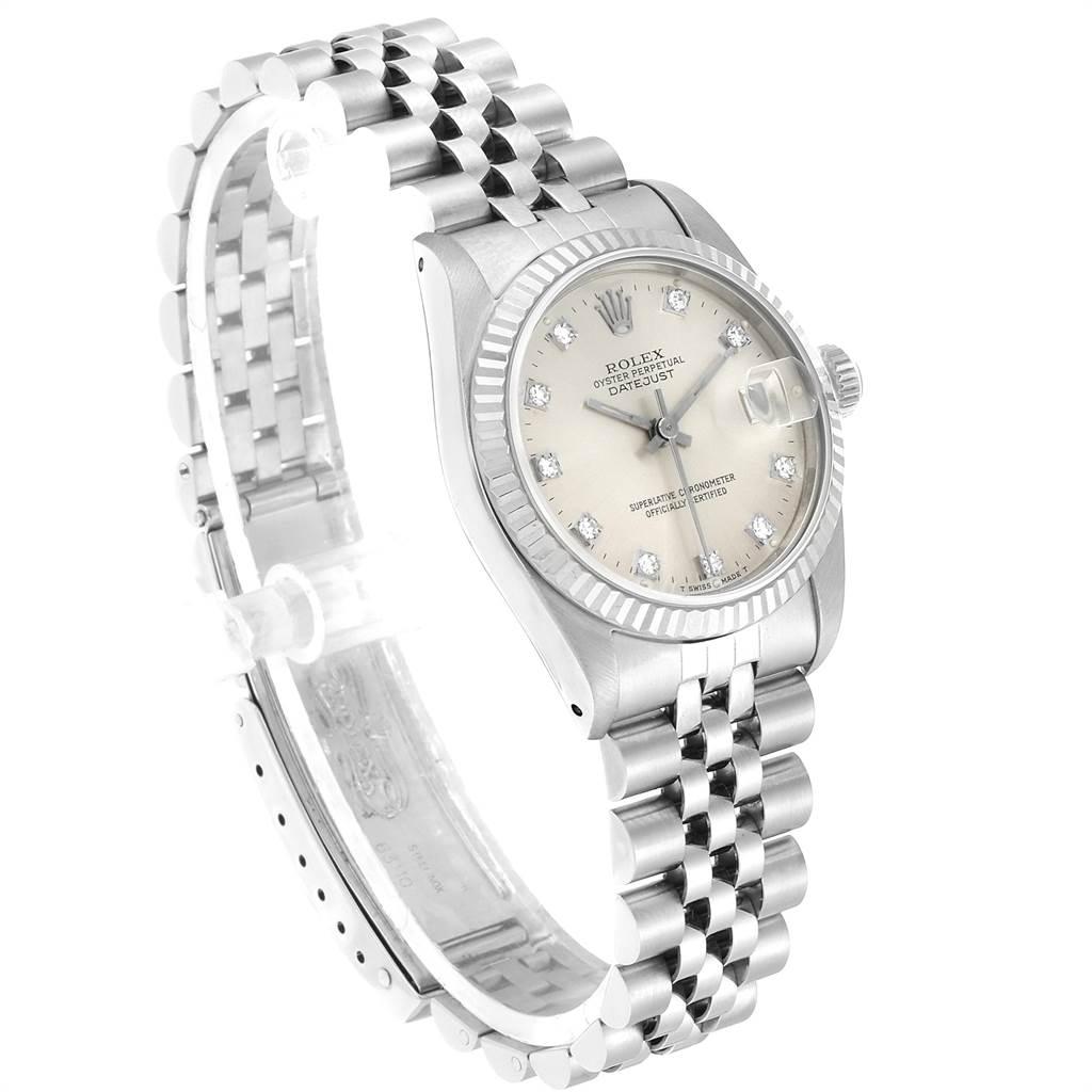 23924 Rolex Datejust Midsize Steel White Gold Diamond Dial Ladies Watch 68274 SwissWatchExpo