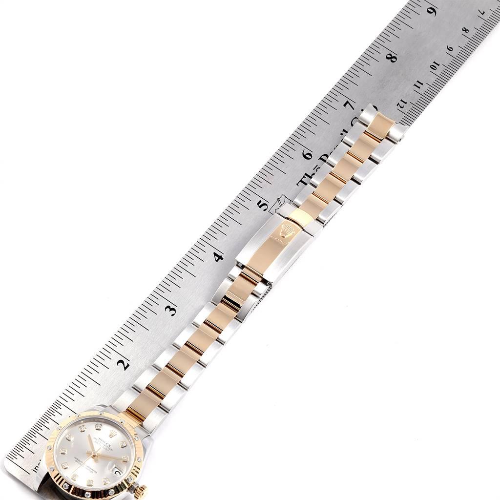 Rolex Datejust Midsize Steel Yellow Gold Diamond Watch 178313 Box Card SwissWatchExpo