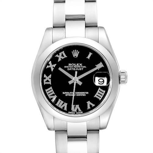 Photo of Rolex Datejust Midsize Black Dial Steel Ladies Watch 178240 Box Card