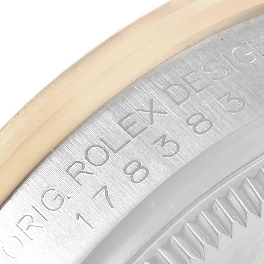 Rolex Datejust Midsize Steel Yellow Gold MOP Diamond Ladies Watch 178383 SwissWatchExpo