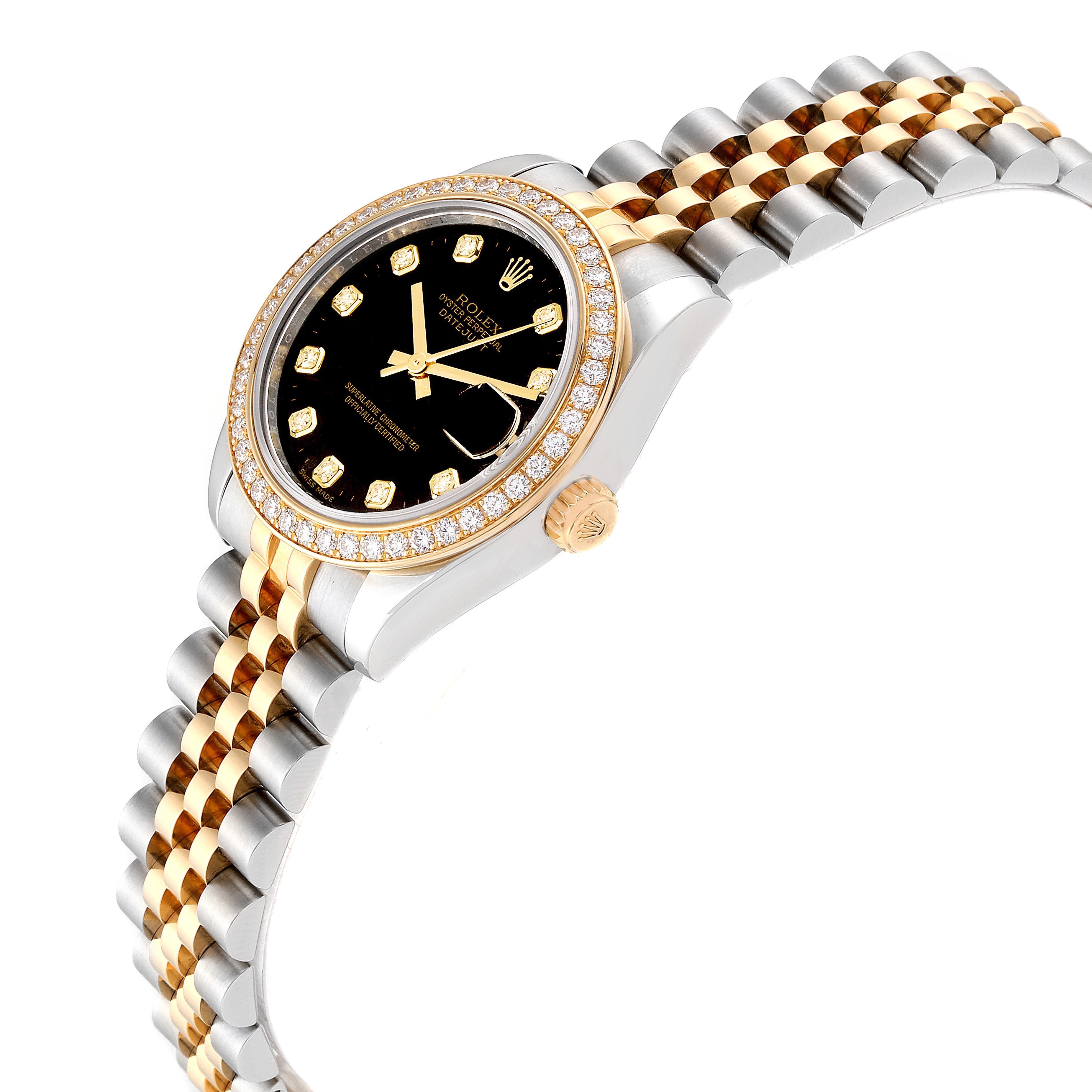 Rolex Datejust 31 Midsize Steel Yellow Gold Diamond Ladies Watch 178383 SwissWatchExpo