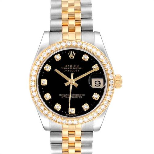 Photo of Rolex Datejust 31 Midsize Steel Yellow Gold Diamond Ladies Watch 178383