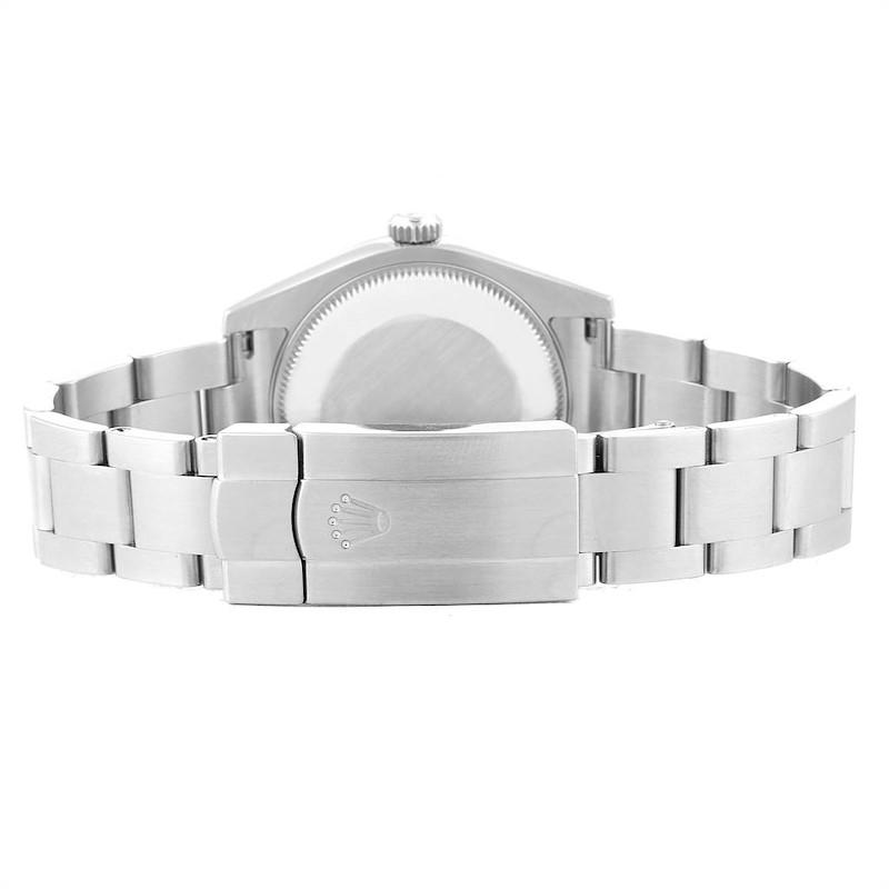 Rolex Midsize Blue Dial Steel Ladies Watch 177200 Box Card SwissWatchExpo
