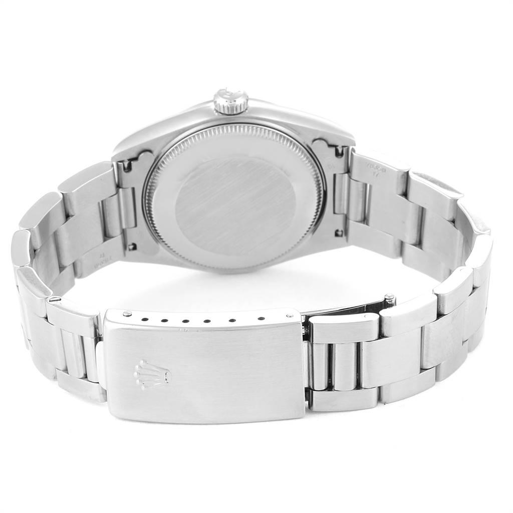 Rolex Midsize 31 Black Dial Oyster Bracelet Steel Ladies Watch 77080 SwissWatchExpo