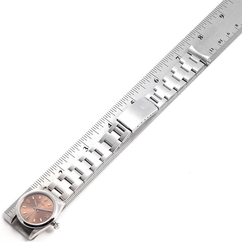 Rolex Midsize 31 Salmon Dial Oyster Bracelet Ladies Watch 67480 SwissWatchExpo