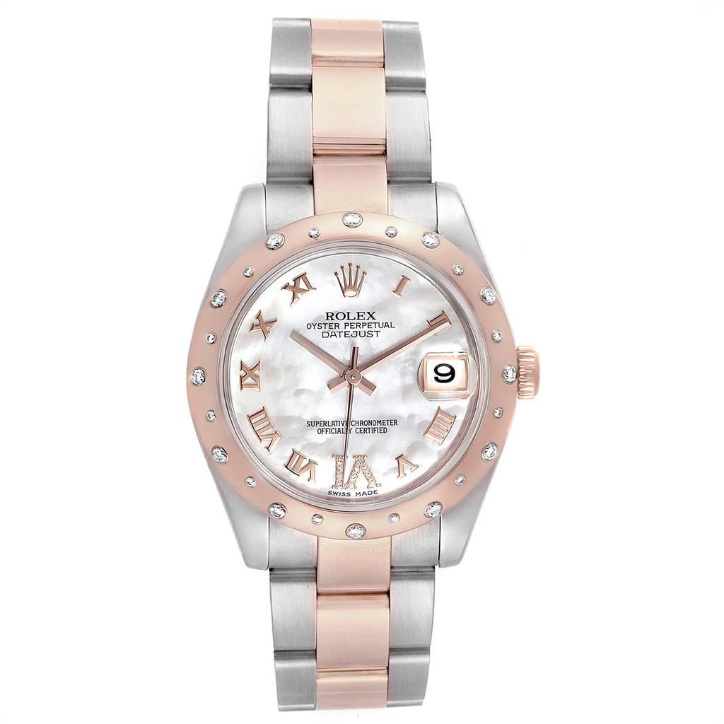 25134 Rolex Datejust 31 Midsize Steel Everose Gold Diamond Ladies Watch 178341 SwissWatchExpo