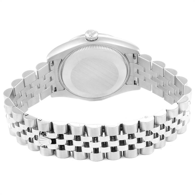 Rolex Datejust Midsize 31 Steel White Gold Ladies Watch 178274 Box Card SwissWatchExpo