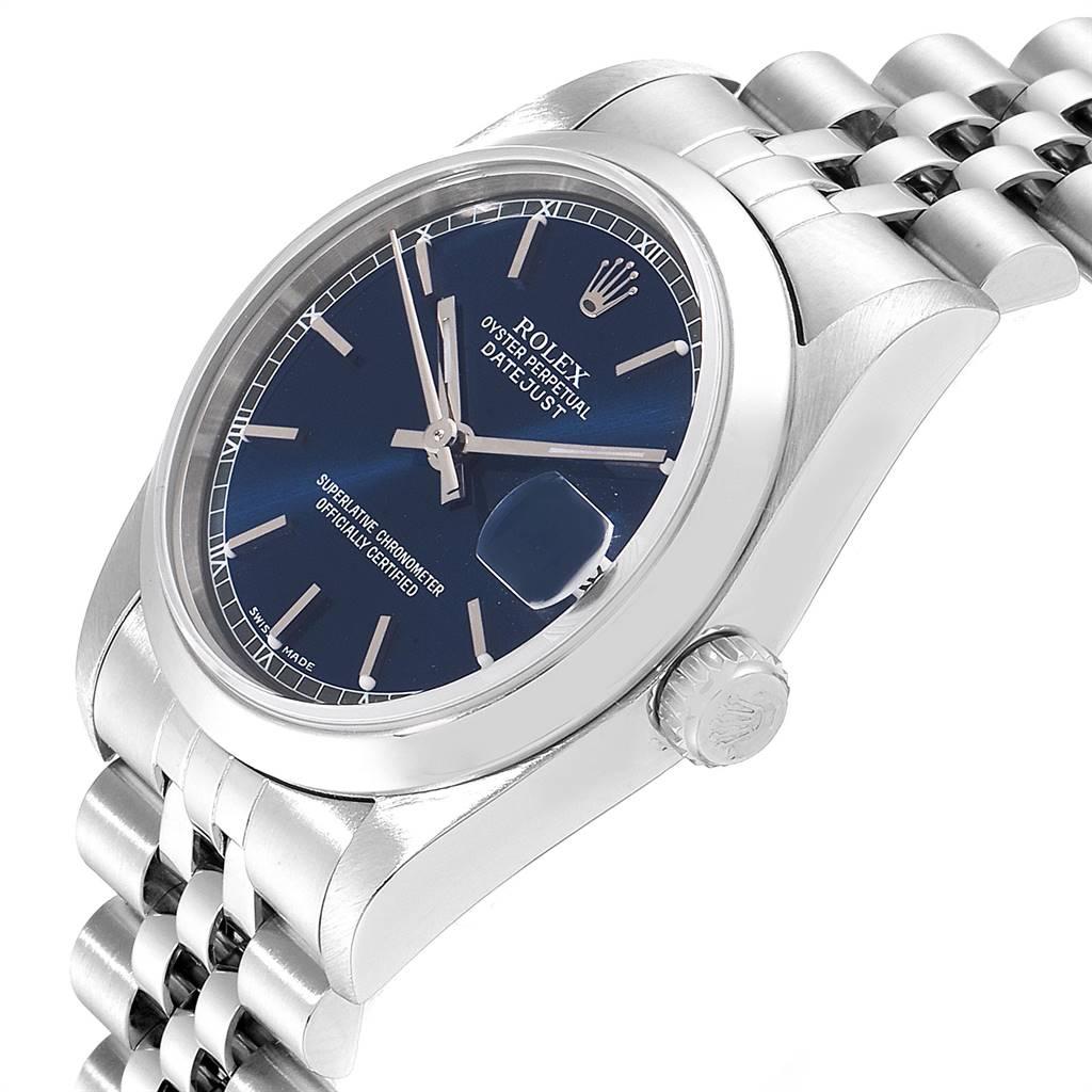 Rolex Datejust 31 Midsize Blue Dial Steel Ladies Watch 78240 SwissWatchExpo