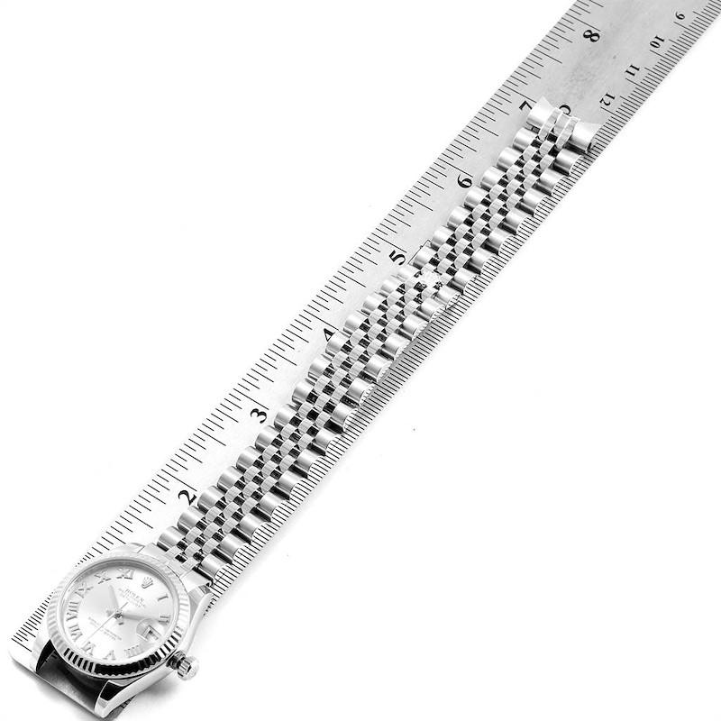 Rolex Datejust Midsize Steel White Gold Rhodium Dial Ladies Watch 178274 SwissWatchExpo