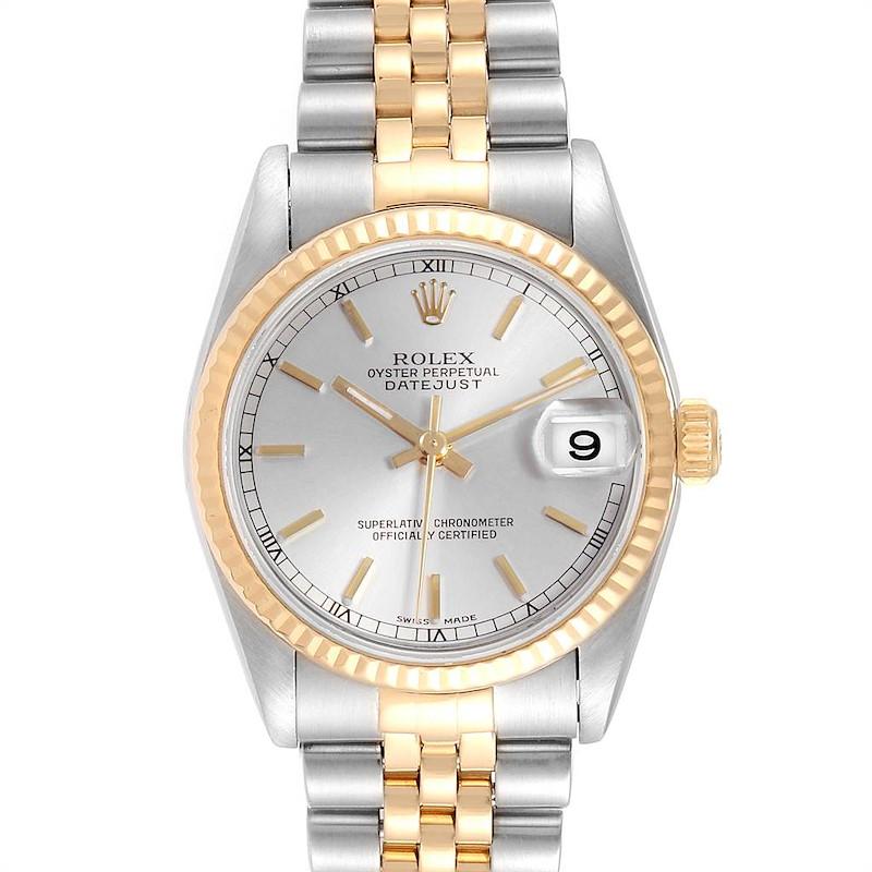 Rolex Datejust Midsize Silver Dial Steel Yellow Gold Ladies Watch 78273 SwissWatchExpo