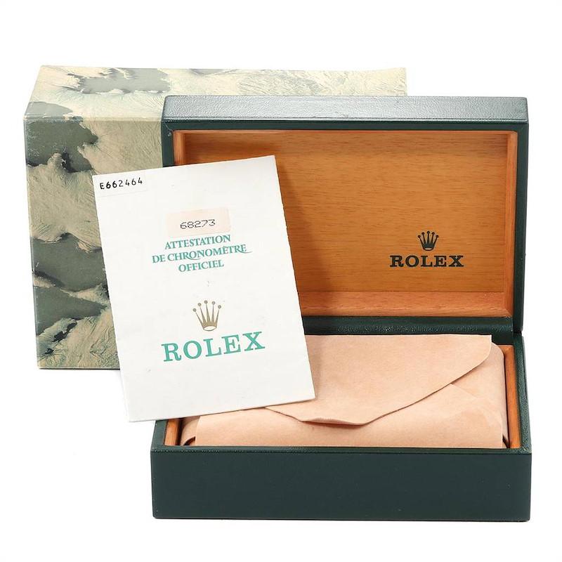 Rolex Datejust Midsize Steel Yellow Gold Ladies Watch 68273 Box Papers SwissWatchExpo