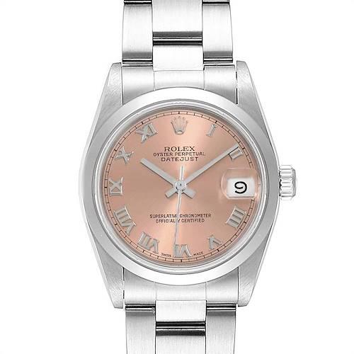 Photo of Rolex Midsize Datejust 31 Salmon Dial Ladies Steel Watch 68240