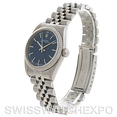 Rolex Midsize Oyster Perpetual Watch 77014 With Papers SwissWatchExpo