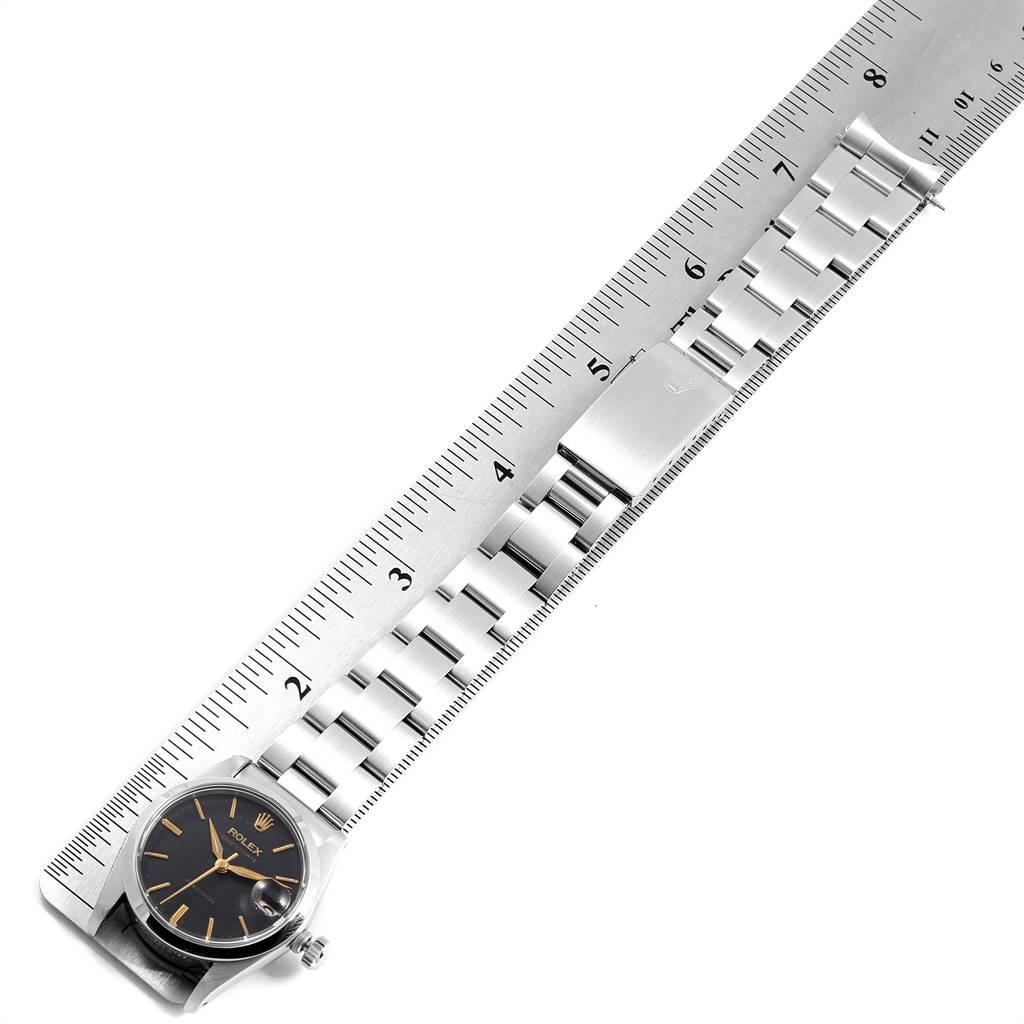 Rolex OysterDate Precision Silver Dial Midsize Steel Vintage Watch 6466 SwissWatchExpo