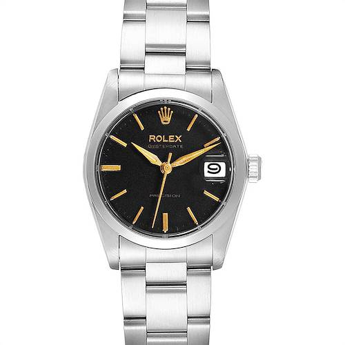 Photo of Rolex OysterDate Precision Silver Dial Midsize Steel Vintage Watch 6466