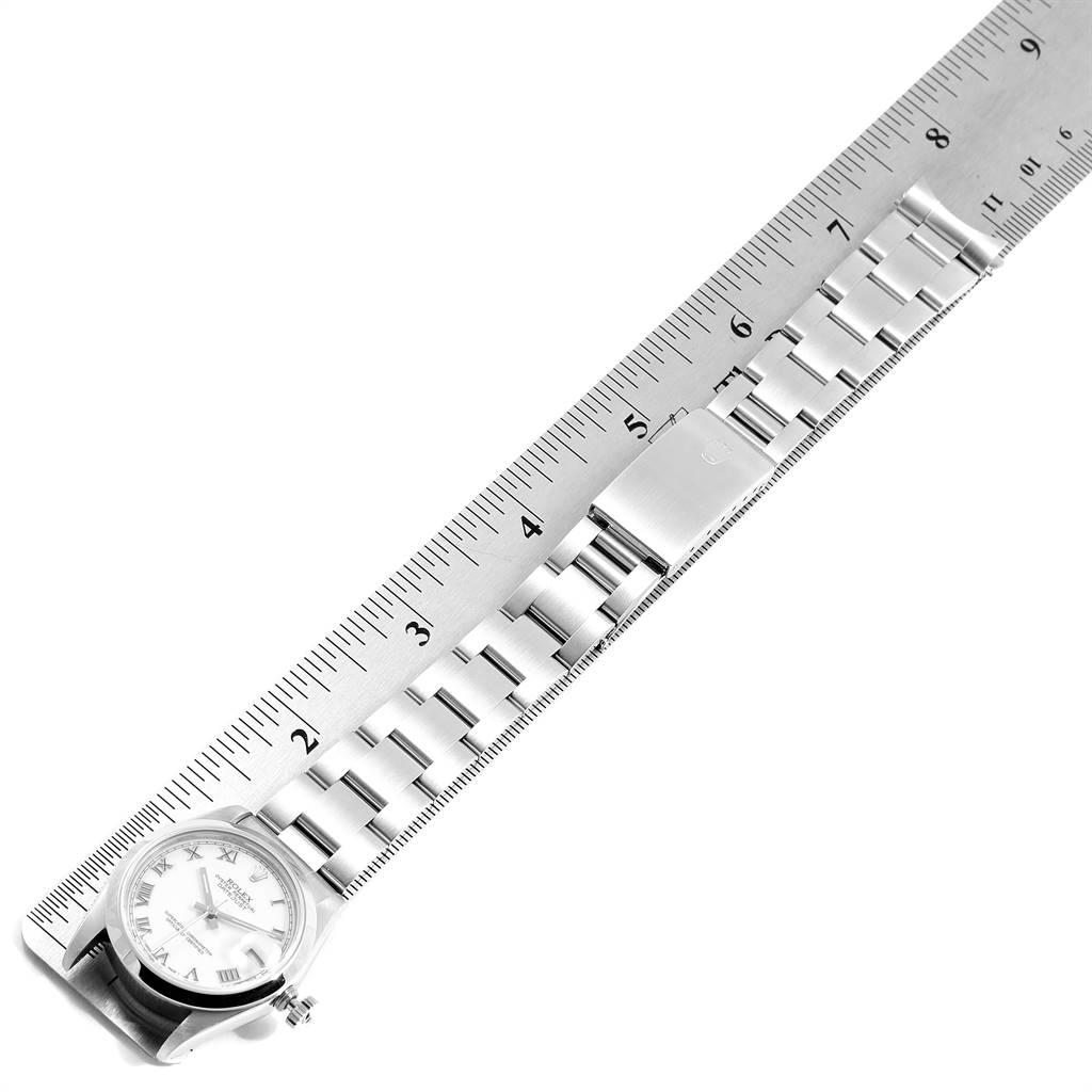 Rolex Datejust 31 Midsize White Roman Dial Steel Ladies Watch 78240 SwissWatchExpo