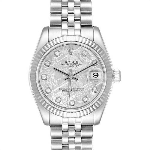 Photo of Rolex Datejust Midsize Steel White Gold Meteorite Diamond Watch 178274