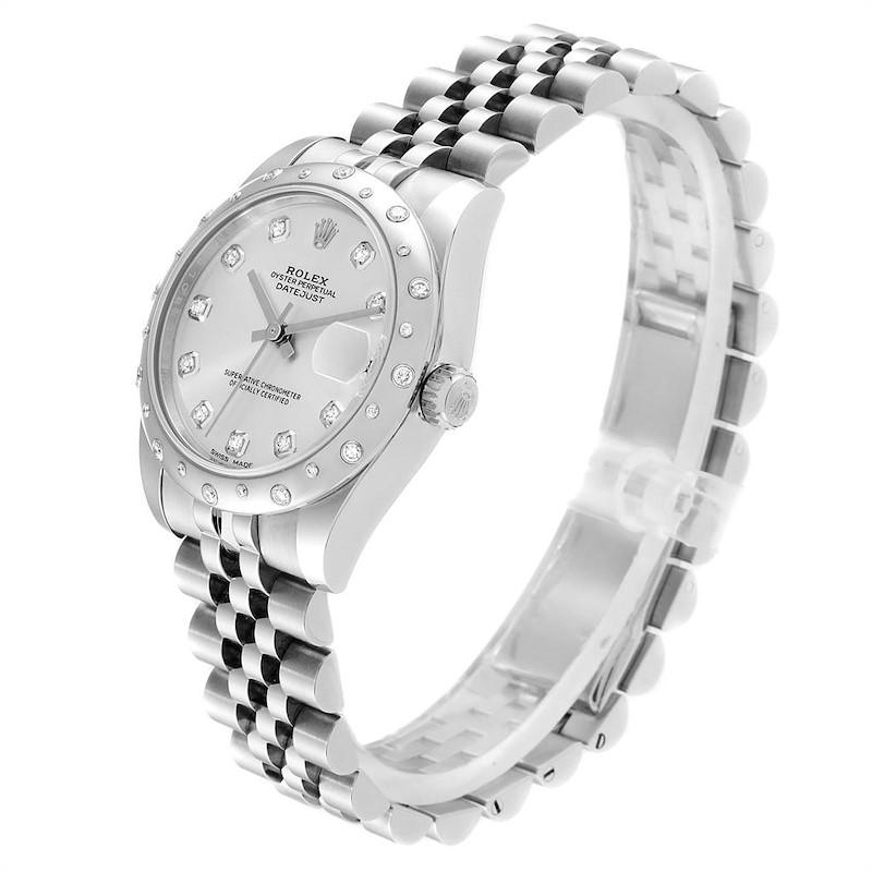 Rolex Datejust Midsize 31 Steel Diamond Ladies Watch 178344 Unworn SwissWatchExpo