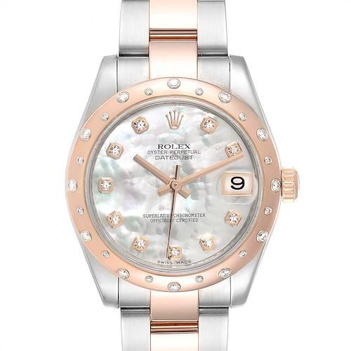 Photo of Rolex Datejust Midsize 31 Steel Everose Gold Diamond Ladies Watch 178341