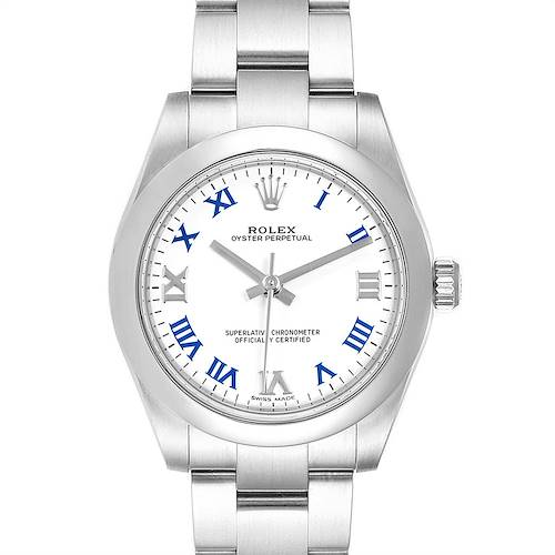 Photo of Rolex Oyster Perpetual Midsize White Dial Ladies Watch 177200 Box Card