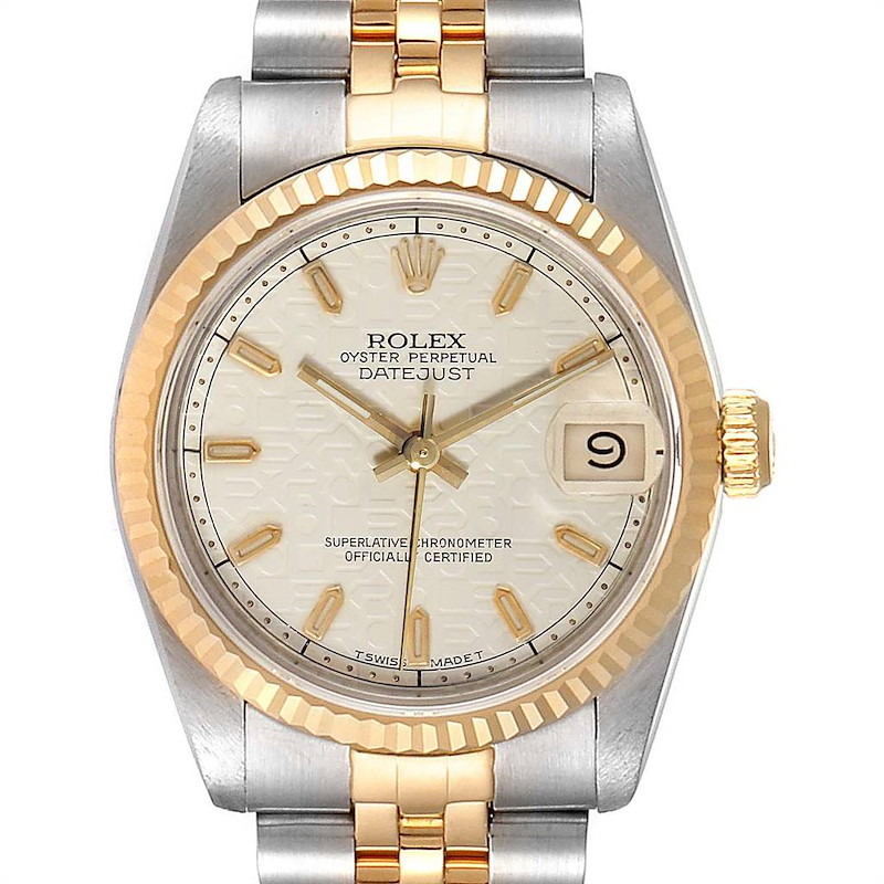 Rolex Datejust Midsize 31 Steel Yellow Gold Ladies Watch 68273 SwissWatchExpo