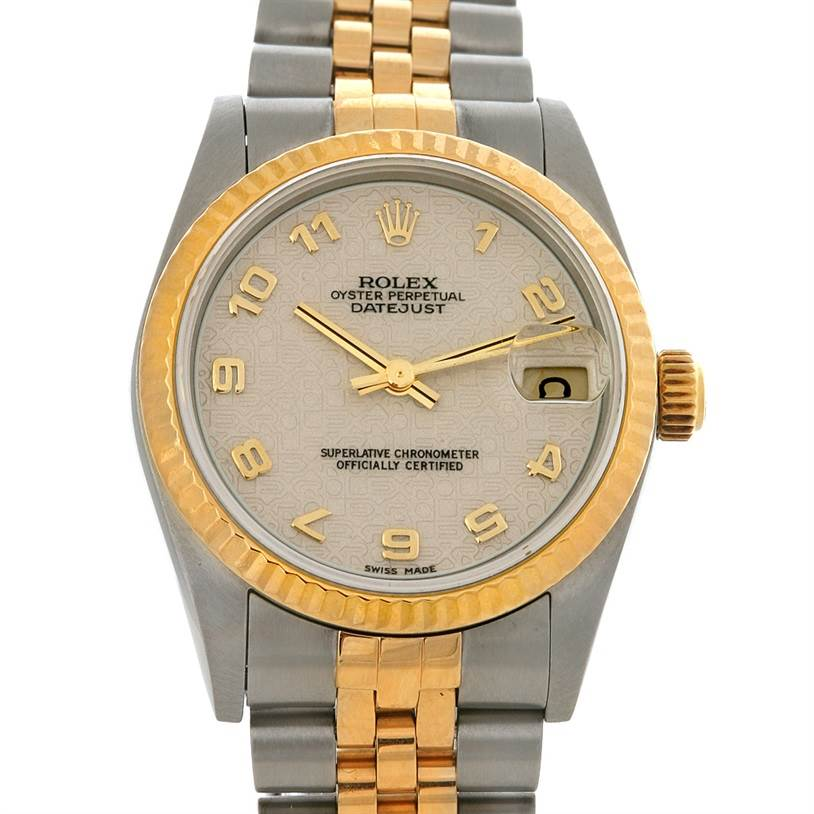 2928 Rolex Datejust Midsize Steel & 18k Gold Watch 78273 SwissWatchExpo