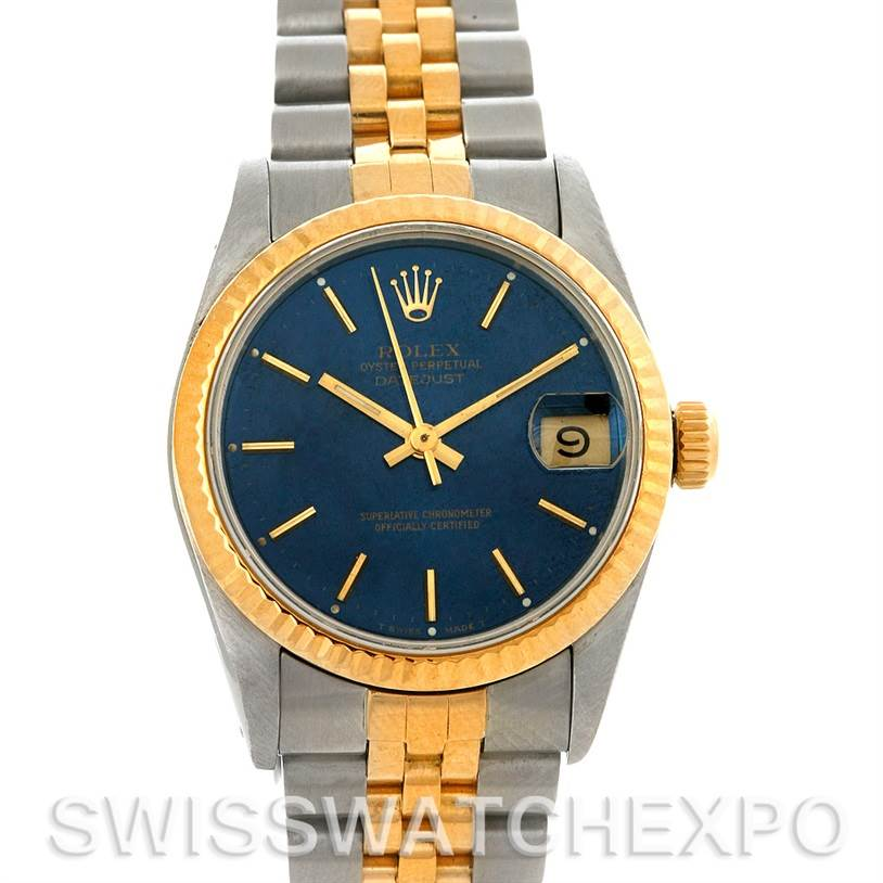 3035 Rolex Datejust Midsize Steel and 18k Gold Watch 68273 SwissWatchExpo