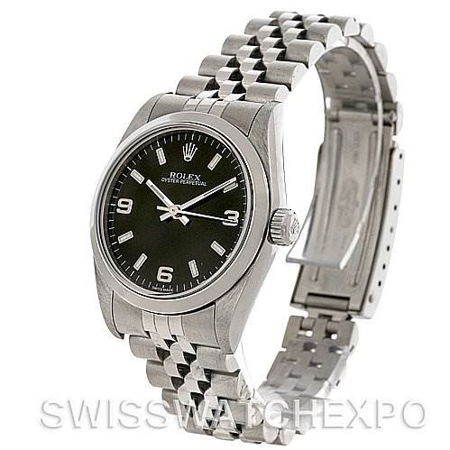 Rolex Midsize Oyster Perpetual Stainless Steel Watch 77080 SwissWatchExpo