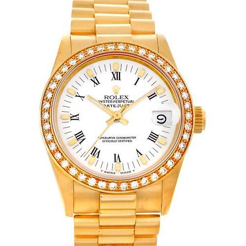 Photo of Rolex Datejust President Midsize18k Yellow Gold Watch 68273