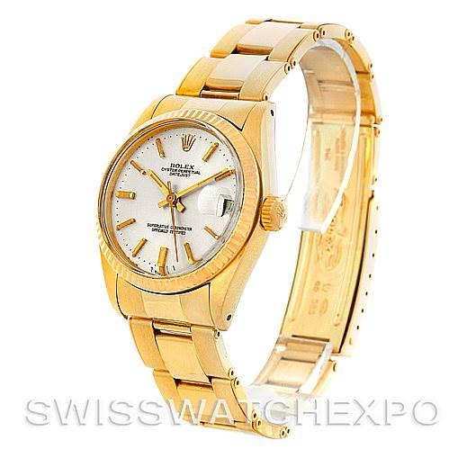 Rolex Datejust President Midsize 14k Yellow Gold Watch 6827 SwissWatchExpo