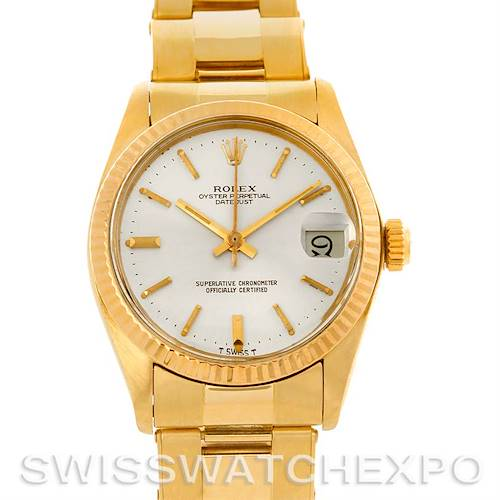 Photo of Rolex Datejust President Midsize 14k Yellow Gold Watch 6827