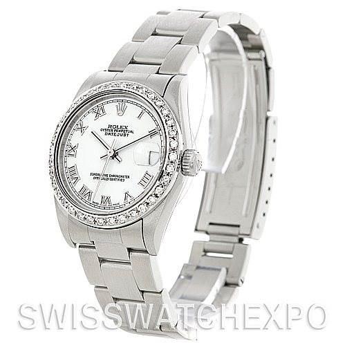 Rolex Midsize Datejust Steel Diamond Watch 78240 SwissWatchExpo