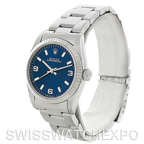 Rolex Midsize Oyster Perpetual  Steel 18K white Gold Watch 67514 SwissWatchExpo