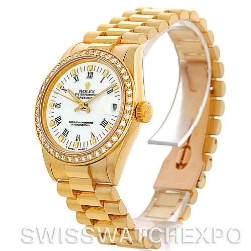 Rolex Datejust President Midsize18k Yellow Gold Watch 68273 SwissWatchExpo