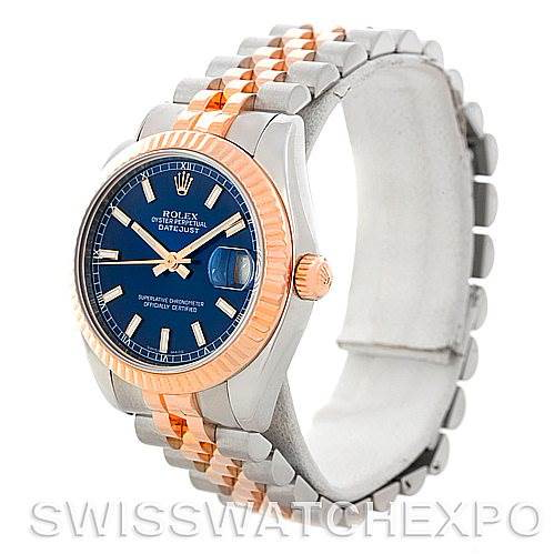 Rolex Datejust Midsize Steel 18k Rose Gold Watch 178271 SwissWatchExpo