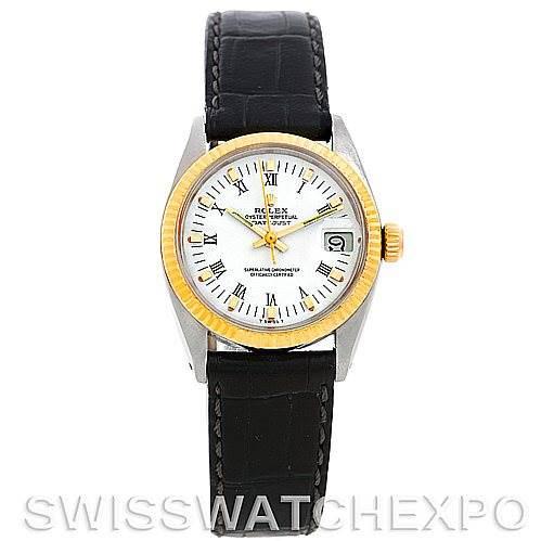 Rolex Datejust Midsize Steel and 18k Yellow Gold Watch 6827 SwissWatchExpo