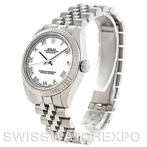 Rolex Datejust Midsize Steel 18k White Gold Watch 178274 SwissWatchExpo