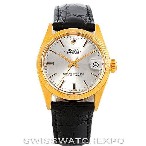 e7a7b4cb67e ... 6305 Rolex Datejust Midsize 18k Yellow Gold Watch 6827 SwissWatchExpo  ...