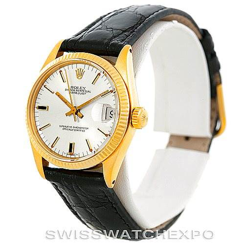 Rolex Datejust Midsize 18k Yellow Gold Watch 6827 SwissWatchExpo