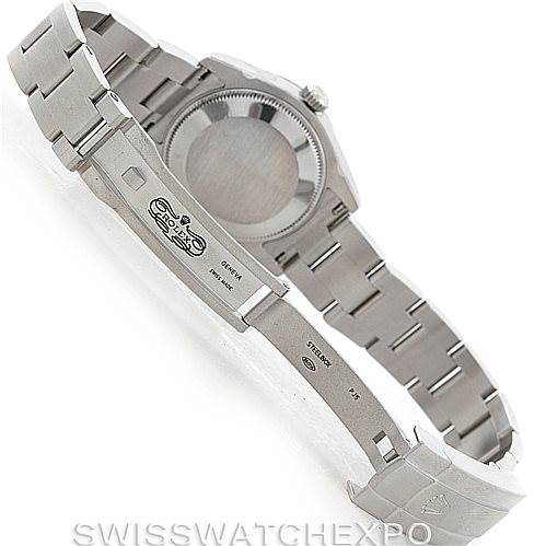 Rolex Midsize Oyster Perpetual Steel Watch 177200 Unworn SwissWatchExpo