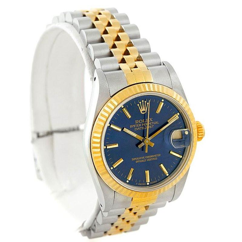 Rolex Datejust Midsize Steel 18k Yellow Gold Watch 68273 SwissWatchExpo