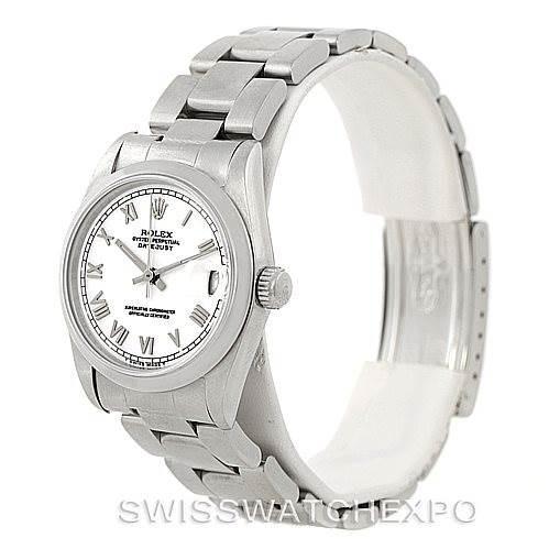 Rolex Midsize Datejust White Dial Steel Watch 68240 SwissWatchExpo