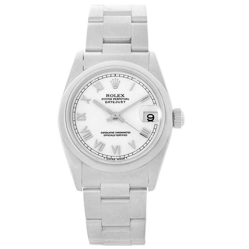 Rolex Midsize Datejust White Dial Steel Ladies Watch 78240 SwissWatchExpo