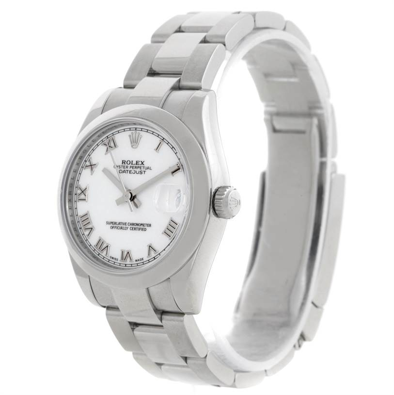 9002 Rolex Midsize Datejust White Dial Stainless Steel Watch 178240 SwissWatchExpo