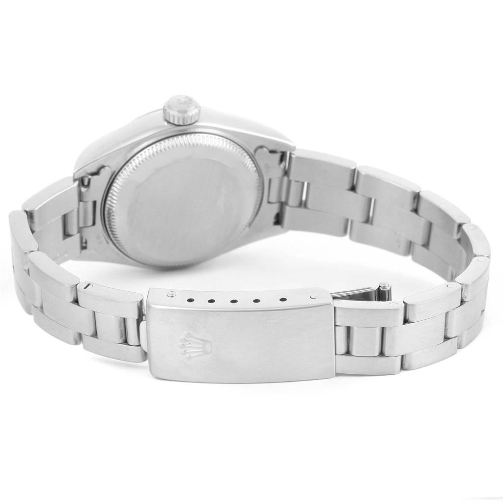 13199 Rolex Date White Dial Oyster Bracelet Ladies Steel Watch 79160 SwissWatchExpo