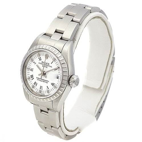 2221 Rolex Date Oyster Perpetual Ladies Ss Watch 79240 SwissWatchExpo