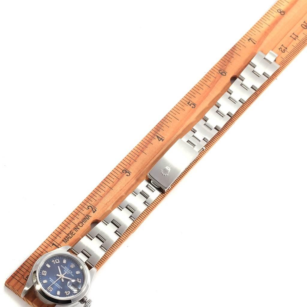 18801 Rolex Date 26 Blue Dial Oyster Bracelet Steel Ladies Watch 79160 SwissWatchExpo